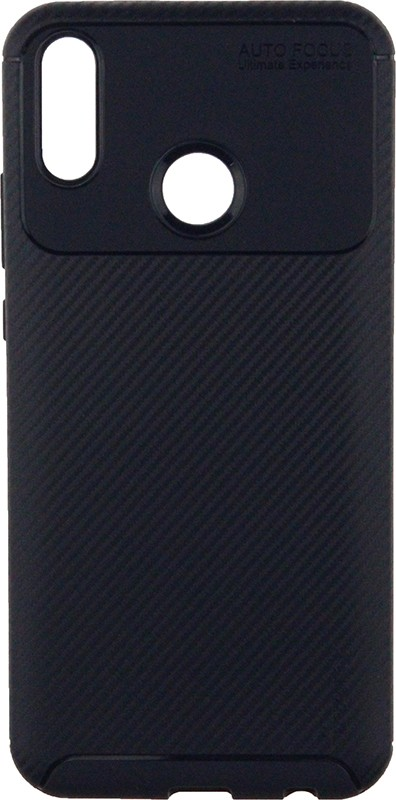 Ipaky Carbon Fiber Series/Soft TPU Case Huawei Y9 2019 Blue