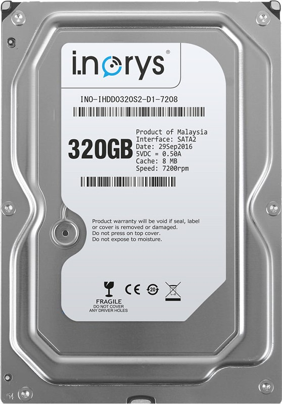 Купить Жесткие диски, i.norys HDD SATA 320GB 7200rpm 8MB (INO-IHDD0320S2-D1-7208)