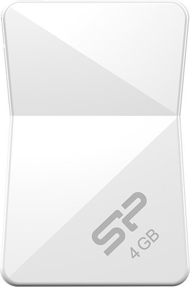 USB Flash Silicon Power Touch T08 4Gb White - Фото 1