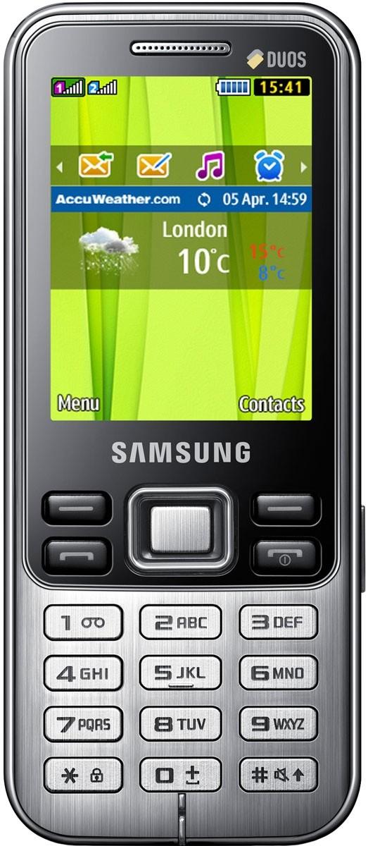 Мобильный телефон Samsung C3322 Duos Metallic black - Фото 1