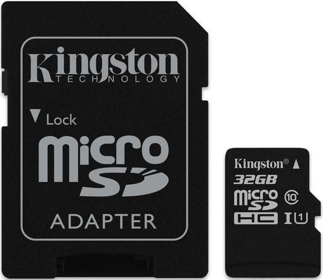 Купить Карты памяти, Kingston microSDHC/microSDXC class 10 UHS-I SD adapter 32Gb