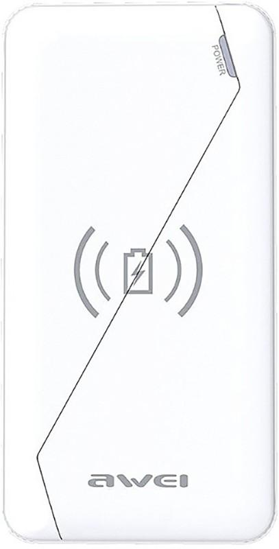 Купить Портативные батареи, AWEI P59K Wireless Power Bank 10000mAh Li-Polimer White