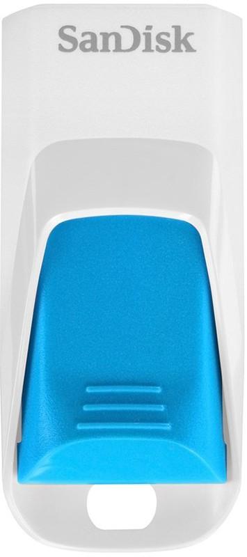 USB Flash SanDisk USB Cruzer Edge 16Gb White/blue - Фото 1