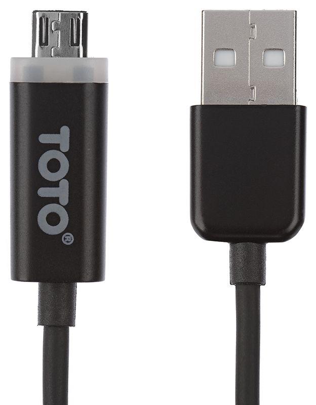 Купить Кабели и переходники, TOTO TKG-12 LED lighting USB cable II microUSB 1m Black