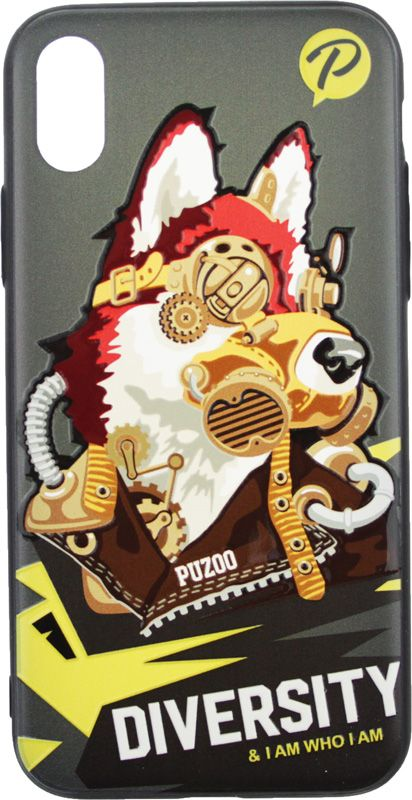 Купить Чехлы для телефонов, PUZOO TPU with UV Printing Punk Phone iPhone X Black