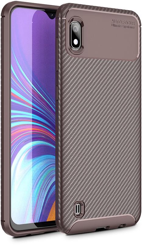 Купить Чехлы для телефонов, TOTO TPU Carbon Fiber 1, 5mm Case Samsung Galaxy A10 Coffee