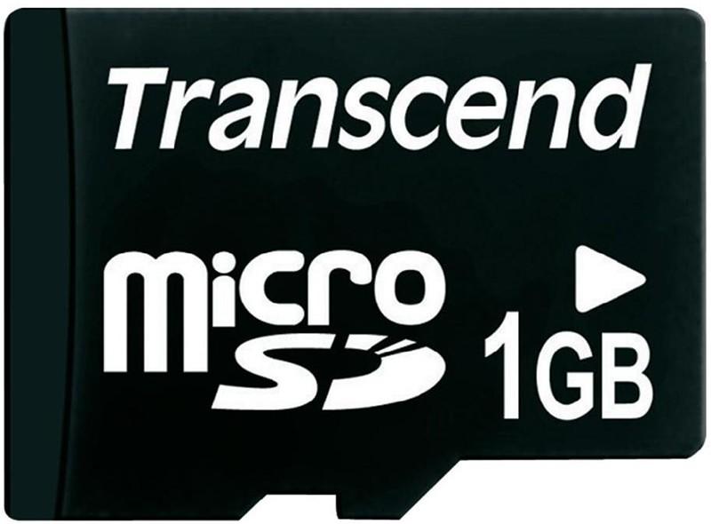 Карта памяти Transcend microSD 1Gb +SD - Фото 1