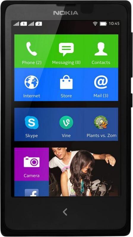 Смартфон Nokia XL Dual SIM Black - Фото 1