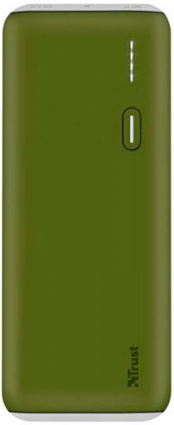 Trust PWB-100 Power Bank 10000mAh Green (22265) - фото