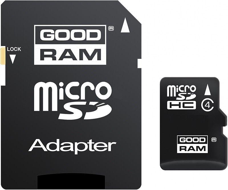 Карта памяти Goodram microSDHC 16Gb class 4 + adapter - Фото 1