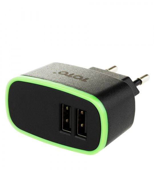 TOTO TZR-07 Travel charger 2USB 2,1A Black