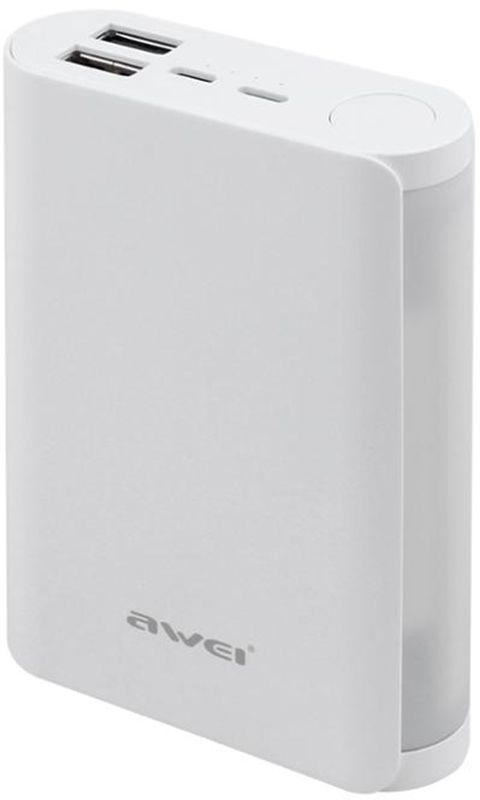 Купить Портативные батареи, AWEI P40K 10000mAh Power Bank White