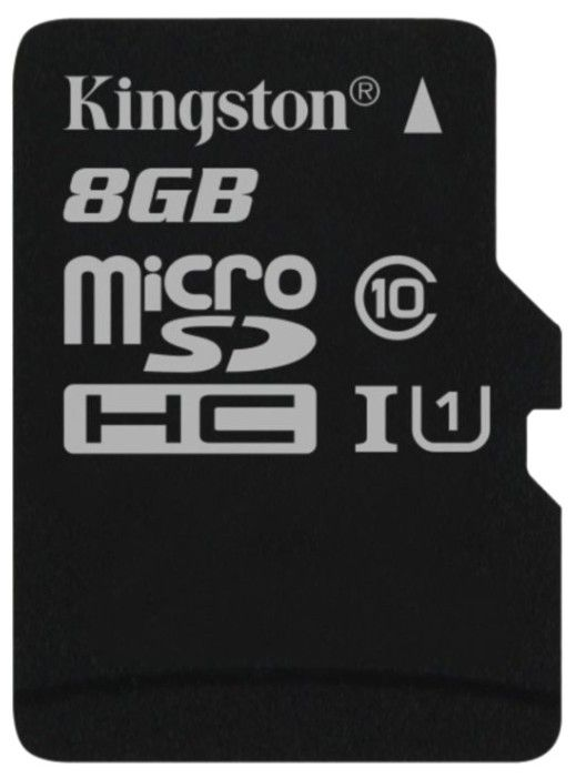 Карта памяти Kingston microSDHC/microSDXC 8Gb Class 10 UHS-I - Фото 1