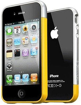 Бампер Spigen Case Linear EX Meteor iPhone 4G R Yellow - Фото 1