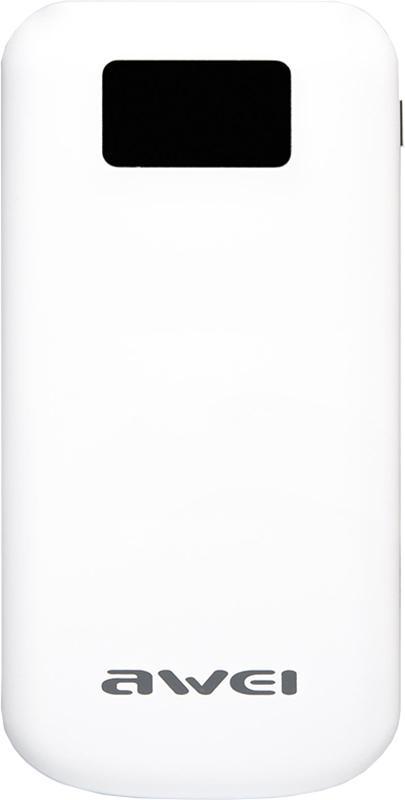 Купить Портативные батареи, AWEI P50K 10000mAh Power Bank White