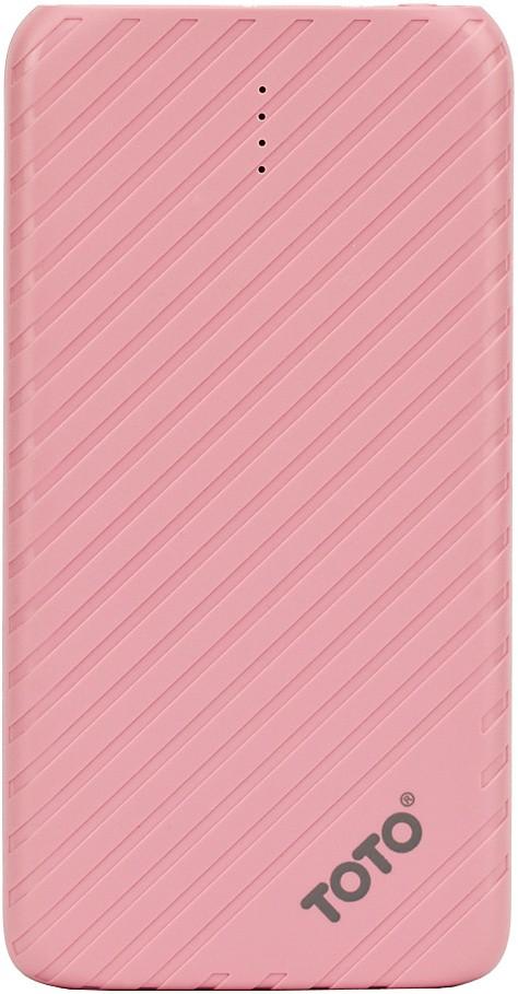 Портативная батарея TOTO TBG-14 Power Bank 4000 mAh 1USB 1A Li-pol Pink - Фото 1