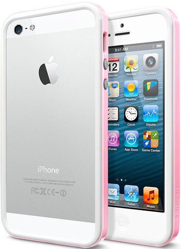 Бампер Spigen Case Neo Hybrid EX Snow Series Sherbet Pink для iPhone 5 - Фото 1