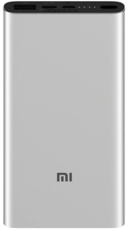 Купить Портативные батареи, Xiaomi Mi Power Bank 3 10000mAh Type-C Silver