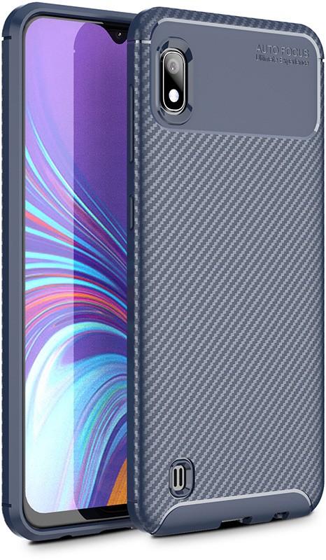 Купить Чехлы для телефонов, TOTO TPU Carbon Fiber 1, 5mm Case Samsung Galaxy A10 Dark Blue
