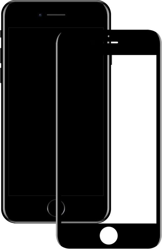 Купить Защитные пленки и стекла, Mocolo 3D Full Cover Tempered Glass iPhone 7 Matt Black