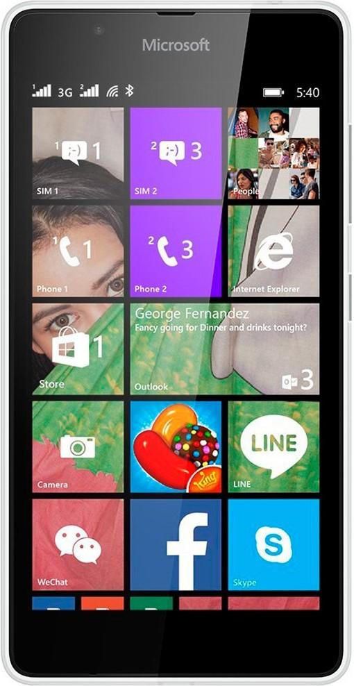 Смартфон Microsoft Lumia 540 Dual SIM White - Фото 1