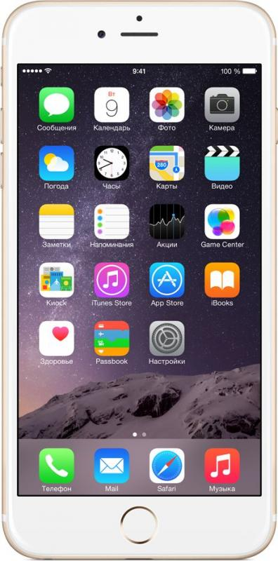 Смартфон Apple iPhone 6 Plus 16Gb Gold - Фото 1