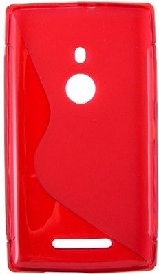 Чехол-накладка Drobak Elastic PU для Nokia Lumia 925 Red - Фото №2