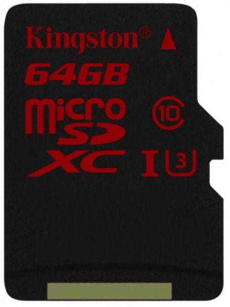 Kingston microSDHC/SDXC UHS-I U3 90R/80W 64Gb