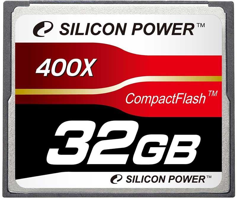 Карта памяти Silicon Power Compact Flash 400x 32Gb - Фото 1