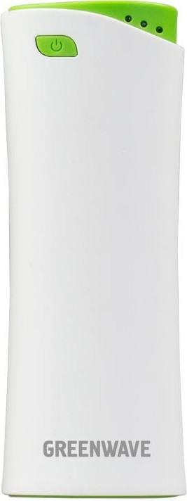 Портативная батарея Greenwave Bamboo-1 white/green - Фото 1