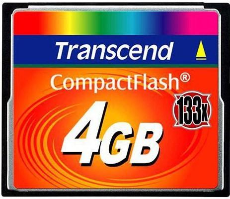 Карта памяти Transcend CompactFlash 133x 4Gb - Фото 1