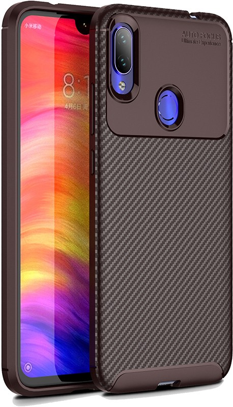 Купить Чехлы для телефонов, TOTO TPU Carbon Fiber 1, 5mm Case Xiaomi Redmi Note 7/Note 7S/Note 7 Pro Coffee