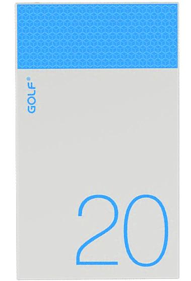 Портативная батарея GOLF Power Bank 20000 mAh Hive20 3.1A Li-pol Blue - Фото 1