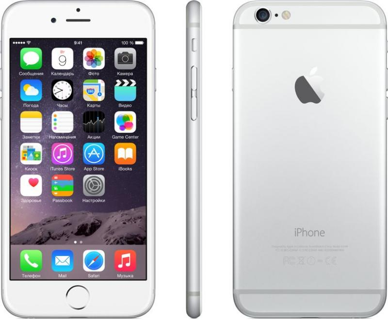 Смартфон Apple iPhone 6 128Gb Silver - Фото 1