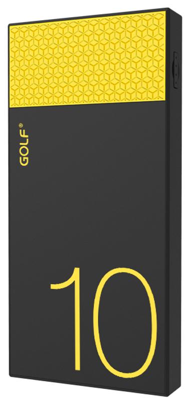 Портативная батарея GOLF Power Bank 10000 mAh Hive10 3.1A Li-pol Black+orange - Фото 1