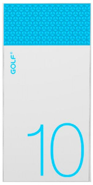 GOLF Power Bank 10000 mAh Hive10 3.1A Li-pol White+blue