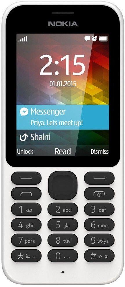 Мобильный телефон Nokia 215 Dual SIM White - Фото 1