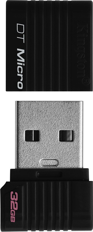 USB Flash Kingston DataTraveler DTMicro 32Gb Black - Фото 1