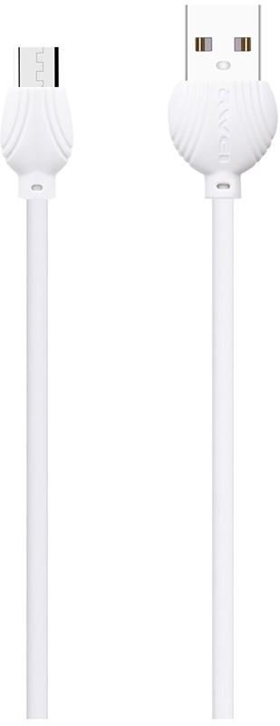 Купить Кабели и переходники, AWEI CL-61 Micro cable 1m White