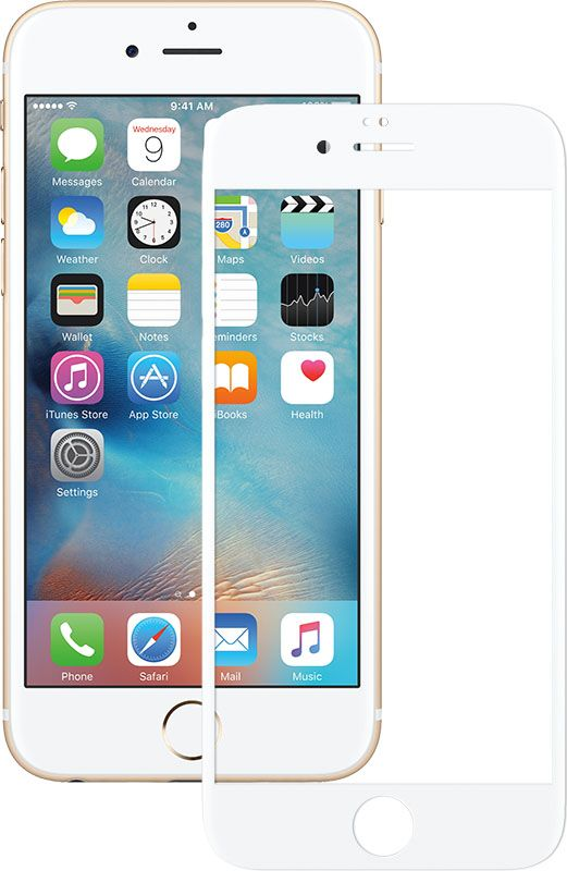 Mocolo 3D Full Cover Tempered Glass iPhone 6 Plus/6s Plus White