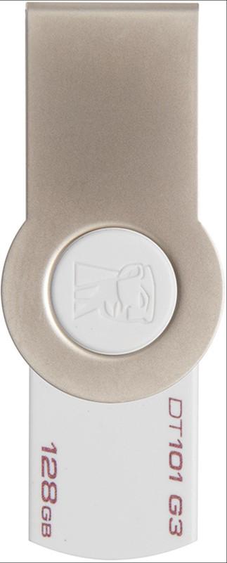 USB Flash Kingston DataTraveler 101 G3 USB 3.0 128Gb White - Фото 1