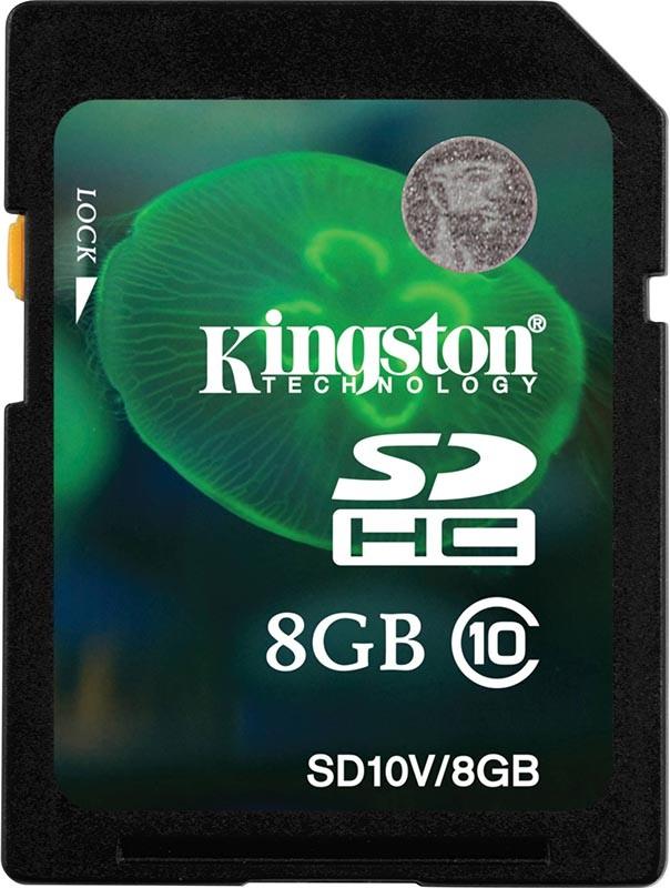 Карта памяти Kingston SDHC 8Gb class 10 Entry Level - Фото 1