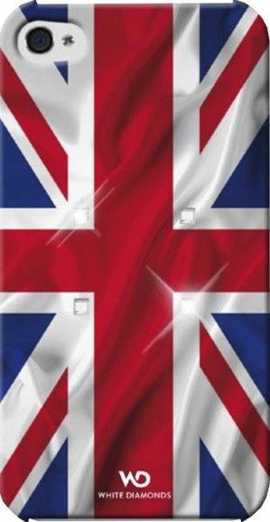 Чехол-накладка White Diamonds Flag UK для iPhone 4/4S - Фото 1