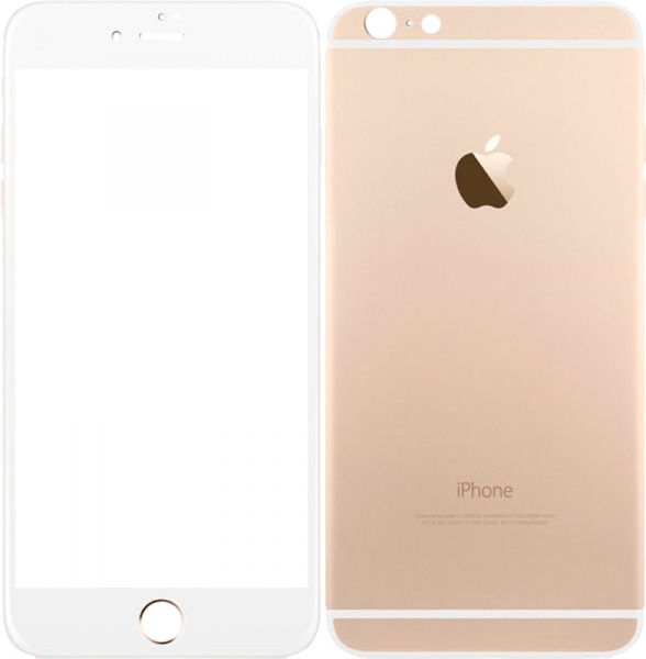 TOTO Metal Tempered Glass 0.2 mm front and back iPhone 6/6s Plus Gold