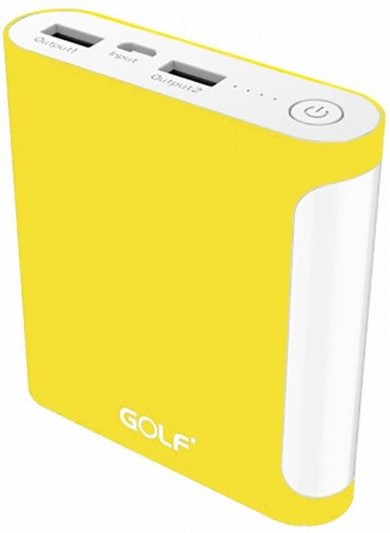 GOLF Power Bank 10000 mAh GF-D14GB 3.1A Li-pol Yellow