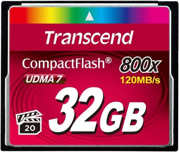 Transcend Compact Flash 800x 32Gb