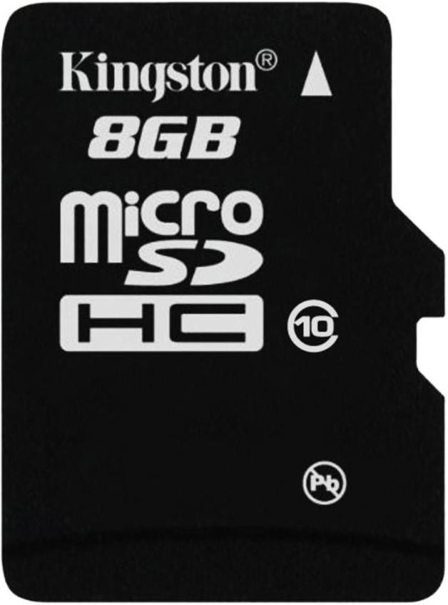 Карта памяти Kingston microSDHC 8Gb class10 - Фото 1
