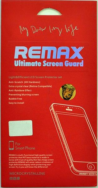 Защитная пленка Remax Apple iPhone 5/5S Clear - Фото 1