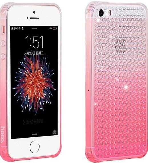 Чехол-накладка HOCO TPU cover Diamond series Gradient iPhone 5/5s/SE Pink - Фото 1