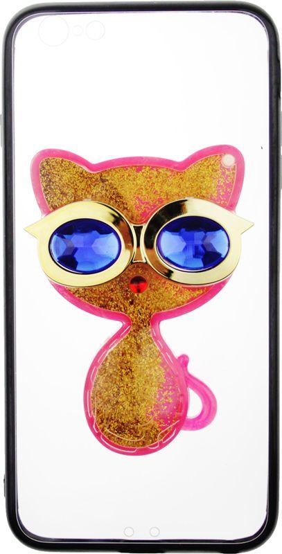 TOTO TPU Case Decorative Stones IPhone 6 Plus/6S Plus Cat Pink